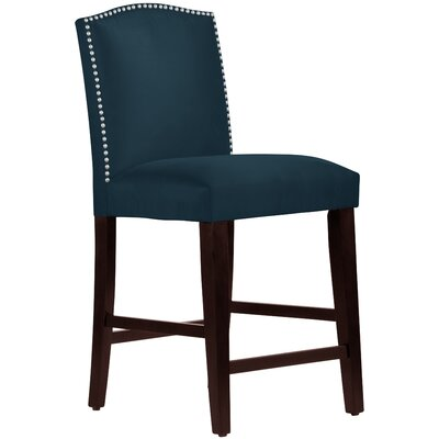 Nadia 26 inch Bar Stool Body Fabric: Premier Navy