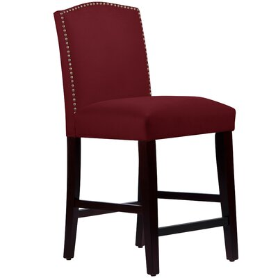 Nadia 26 Bar Stool Body Fabric: Velvet Berry