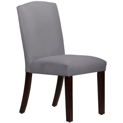 Nadia Parsons Chair Body Fabric: Velvet Steel Grey