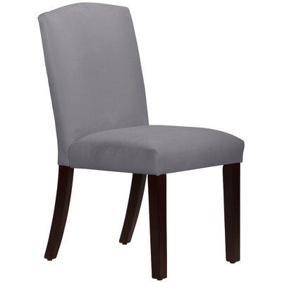 Nadia Parsons Chair Body Fabric: Velvet Steel Grey