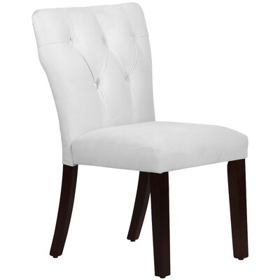 Evelina Parsons Chair Body Fabric: Velvet Light Grey