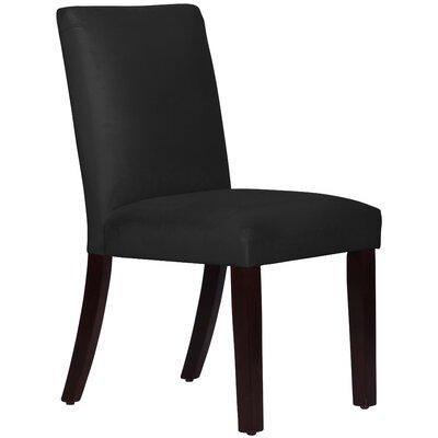 Connery Parsons Chair Body Fabric: Velvet Black