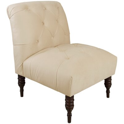 Arch Hill Shantung Tufted Slipper Chair Upholstery: Velvet Pearl