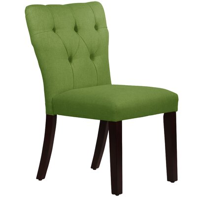 Evelina Side Chair Upholstery: Linen Kelly Green