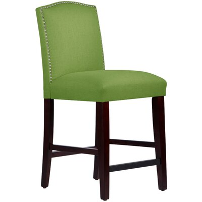 Nadia 26 Bar Stool Body Fabric: Linen Kelly Green