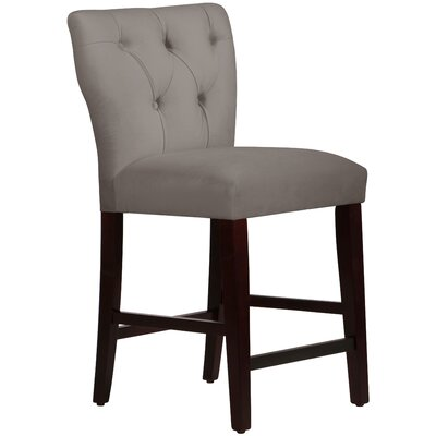 Evelina 26 Bar Stool Upholstery: Velvet Steel Grey