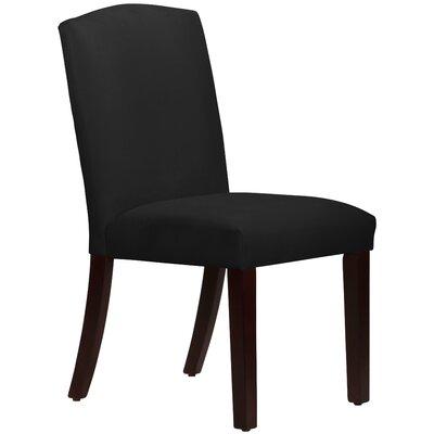 Nadia Parsons Chair Body Fabric: Velvet Black