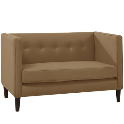Crosby Chesterfield Settee Body Fabric: Linen Taupe
