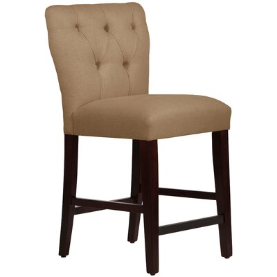 Evelina 26 Bar Stool Upholstery: Linen Taupe