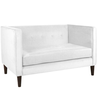 Crosby Chesterfield Settee Body Fabric: Premier White