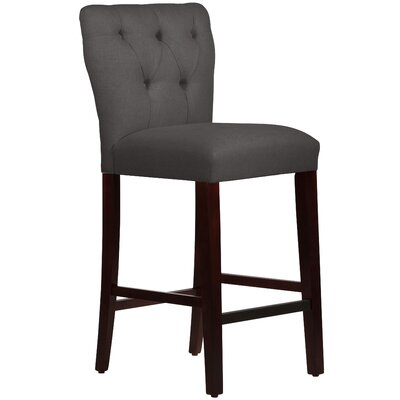 Evelina 31 Bar Stool Body Fabric: Velvet Berry