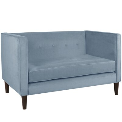Crosby Chesterfield Settee Body Fabric: Velvet Ocean