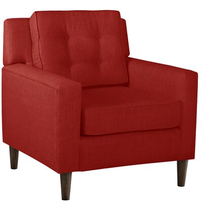 Elena Arm Chair Upholstery: Linen Antique Red