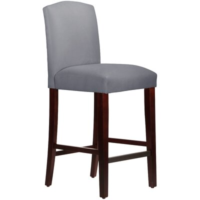 Nadia 31 Bar Stool Body Fabric: Velvet Steel Grey