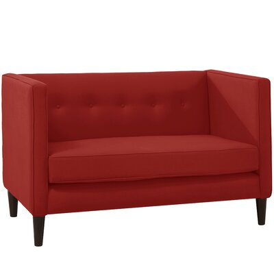 Crosby Settee Body Fabric: Linen Antique Red