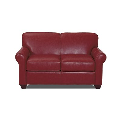 Jennifer Leather Loveseat Body Fabric: Durango Strawberry, Leather Application: Leather Match