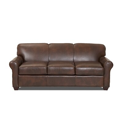Jennifer Leather Sofa Body Fabric: Steamboat Driftwood, Leather Application: Leather Match