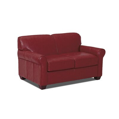 Jennifer Leather Loveseat Body Fabric: Durango Strawberry, Leather Type: Faux Leather