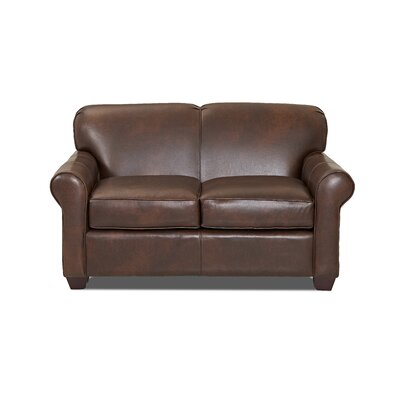 CSTM2033 26962795 CSTM2033 Custom Upholstery Jennifer Leather Loveseat Leather