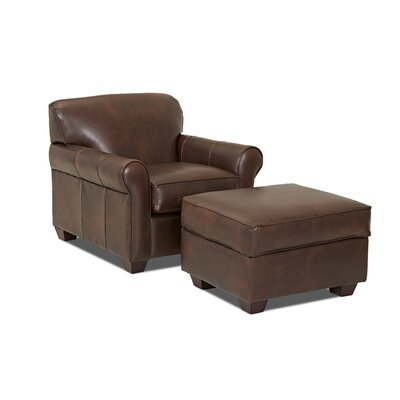 Jennifer Leather Ottoman Body Fabric: Steamboat Driftwood