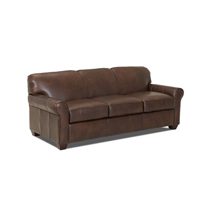 Jennifer Leather Sleeper Sofa Body Fabric: Steamboat Driftwood, Leather Application: Leather Match