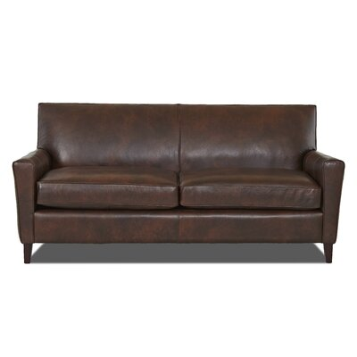Grayson Leather Sofa Body Fabric: Steamboat Driftwood