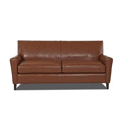 Grayson Leather Sofa Body Fabric: Durango Acorn