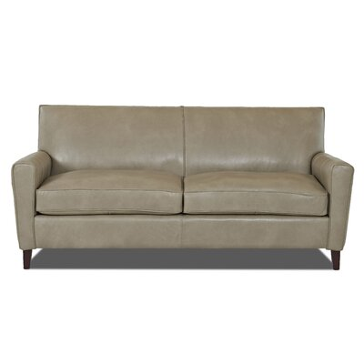 Grayson Leather Sofa Body Fabric: Steamboat Putty