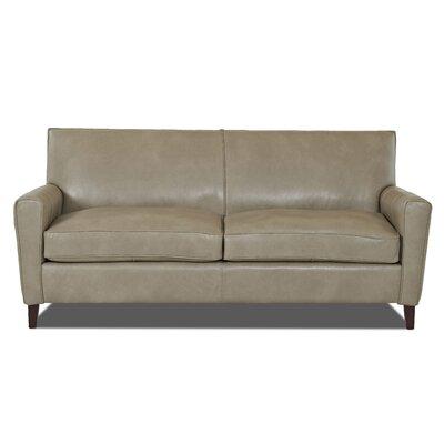 Grayson Leather Sofa Body Fabric: Steamboat Putty