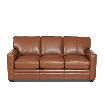 Carleton Leather Sofa Body Fabric: Durango Acorn, Leather Application: Leather Match