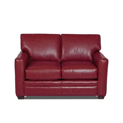 Carleton Leather Loveseat Body Fabric: Durango Strawberry, Leather Application: Leather Top