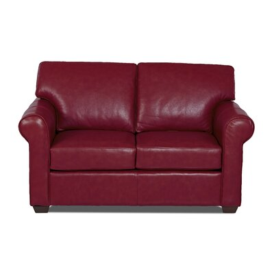 Rachel Leather Loveseat Body Fabric: Durango Strawberry, Leather Application: Leather Match
