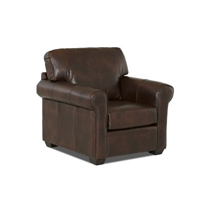 Rachel Club Chair Body Fabric: Steamboat Driftwood, Leather Application: Leather Top