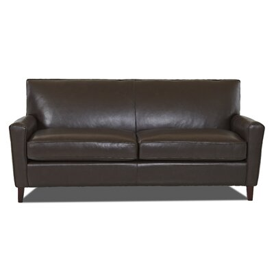 Grayson Leather Sofa Body Fabric: Durango Espresso