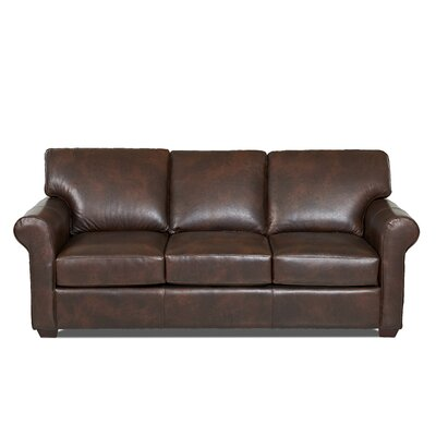Rachel Leather Sofa Body Fabric: Steamboat Driftwood, Leather Application: Top Grain Leather