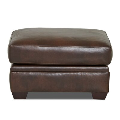 Carleton Leather Ottoman Body Fabric: Steamboat Driftwood