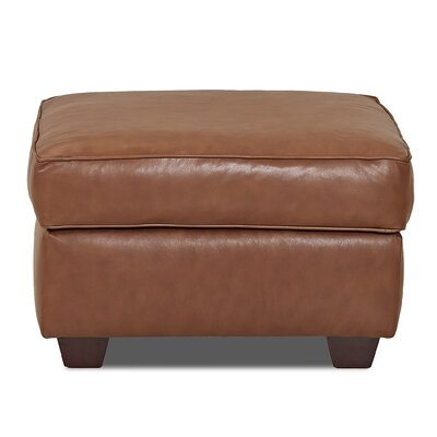 Jennifer Leather Ottoman Body Fabric: Durango Acorn
