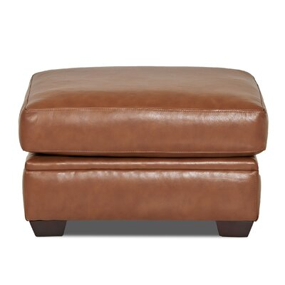Carleton Leather Ottoman Body Fabric: Durango Acorn