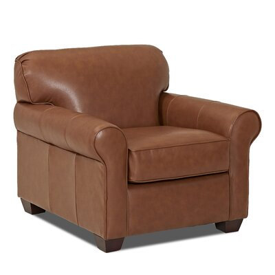 Jennifer Club Chair Upholstery: Leather Top, Upholstery: Durango Acorn