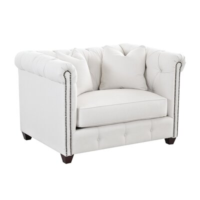 Harrison Mid Century Accent Club Chair Body Fabric: Glynnlinen Optic White