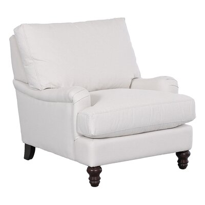 Delphine Armchair Body Fabric: Spinnsol Optic White