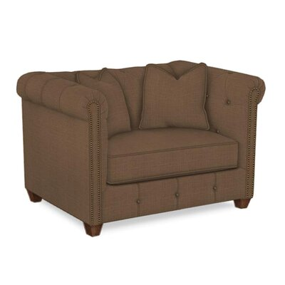 Harrison Mid Century Accent Club Chair Body Fabric: Hilo Rattan