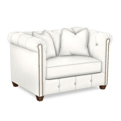 Harrison Mid Century Accent Club Chair Body Fabric: Classic Bleach White