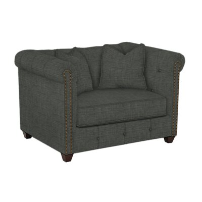 Harrison Mid Century Accent Club Chair Body Fabric: Lizzy Graphite