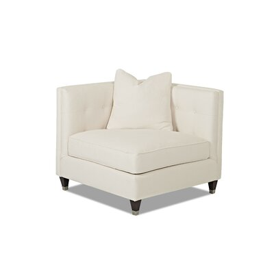 Jessica Side Chair Body Fabric: Glynnlinen Optic White, Pillow Fabric: Glynnlinen Optic White