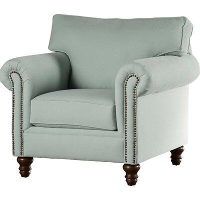 Vivian Arm Chair Body Fabric: Bayou Spray, Nailhead Finish: Pewter