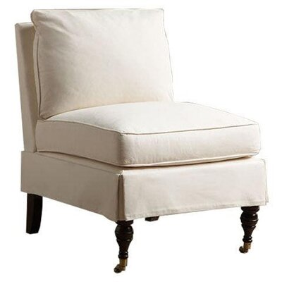 Dana Slipper Chair Body Fabric: Hilo Seagull, Welt Fabric: Hilo Seagull