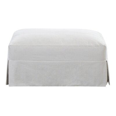 Carly Ottoman Body Fabric: Glynnlinen Optic White