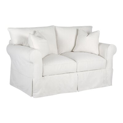 Felicity Loveseat Body Fabric: Pebble Ivory
