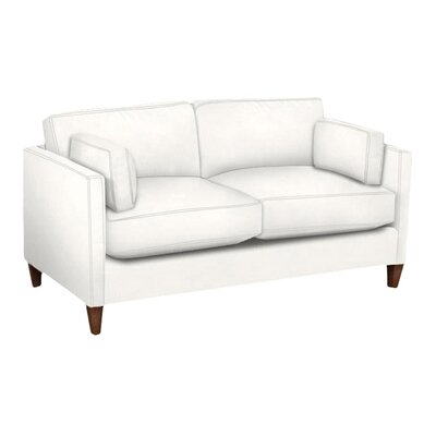 Caroline Loveseat Body Fabric: Glynnlinen Oyster, Pillow Fabric: Glynnlinen Oyster